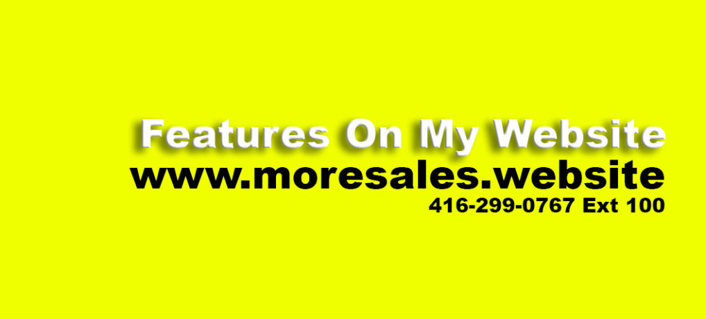 Features On My Website