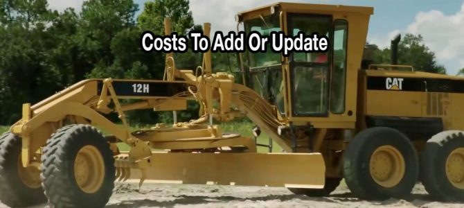 Costs To Add Or Update